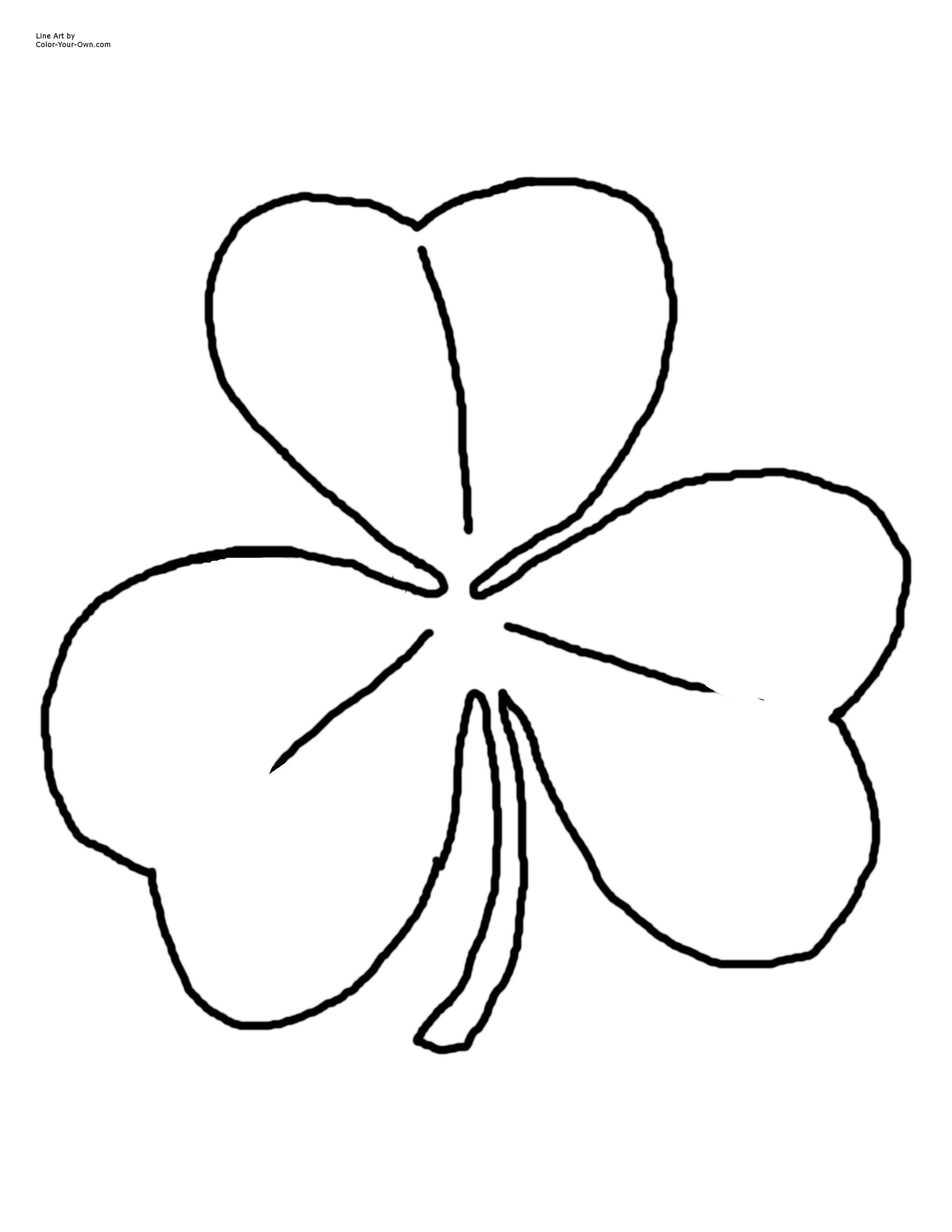 Irish Shamrock Coloring Page Free Stencils Printables Coloring Pages Free Coloring Pages