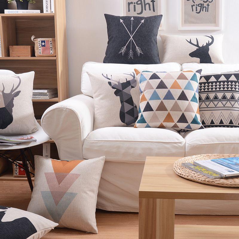 La Maison Du Style Pas Cher #8: Pas Cher Livraison Gratuite Style Nordique Coussins Décor À La Maison  Minimaliste Géométrie Coussins Pour Canapés