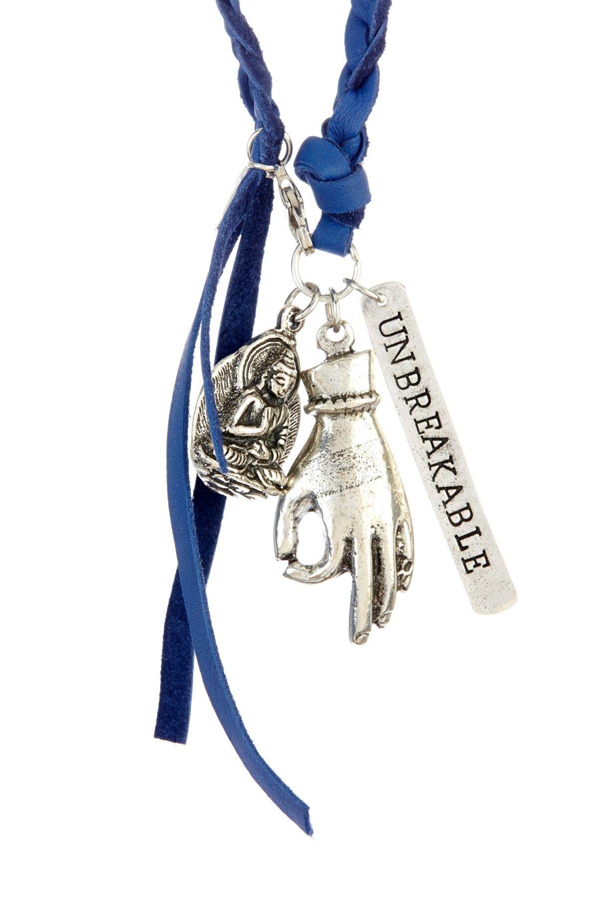 Alisa Michelle Unbreakable Leather Necklace - Silver on HauteLook