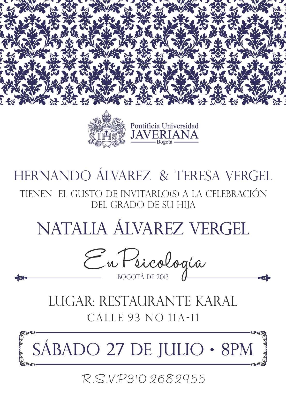 Grado Universidad Javeriana Invitaciones De Grado