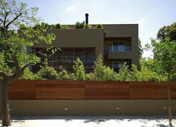 zeitgenössisches haus mit modernen zaun und fassade | zukünftige, Best garten ideen