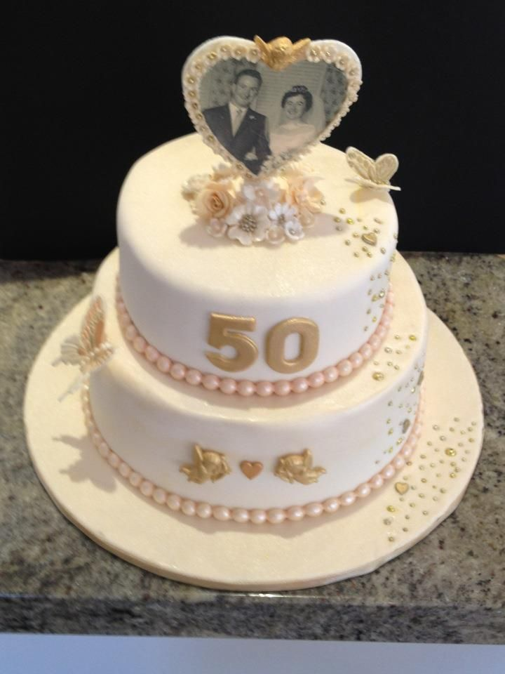 Cake Decorating For Golden Wedding Anniversary : 50th anniversary cakes pictures 50th wedding anniversary ...