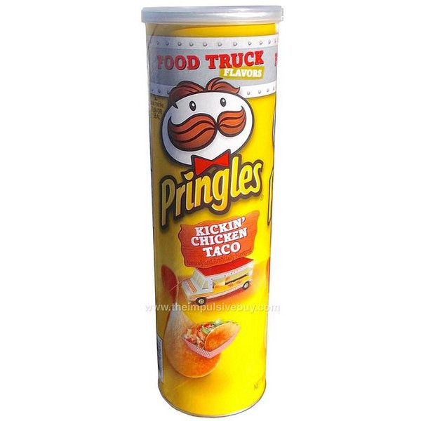 Review Pringles Food Truck Flavors Kickin Chicken Taco Liked On