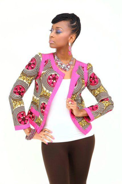 veste Editalo Designs | Mode africaine, Veste en pagne