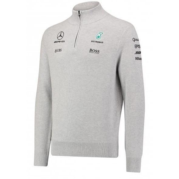 Mercedes Benz Formula 1 Petronas AMG F1 1/2 Zip Knitted