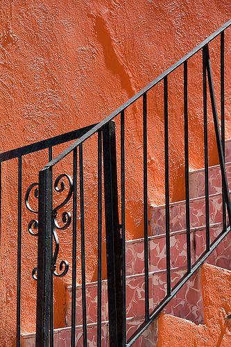 Orange Stairs, Guanajuato, Mexico