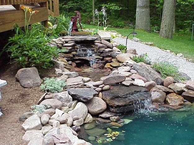 Lovely 21 Waterfall Ideas To Add Tranquility To Rock Garden Design
