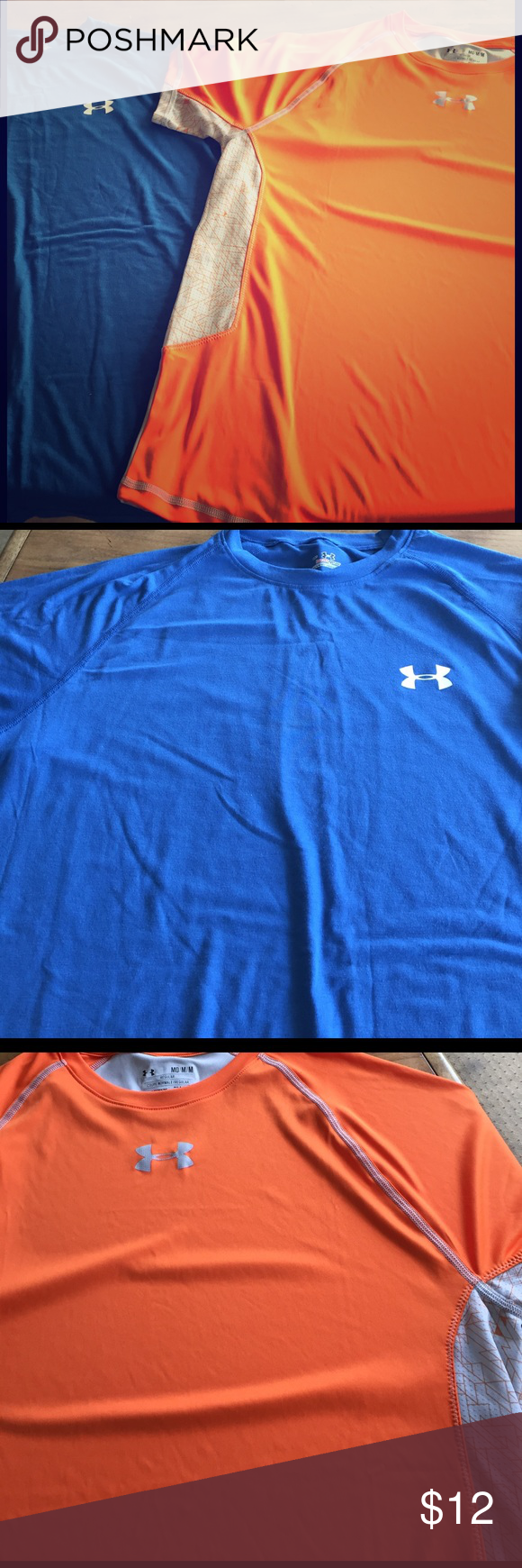 2 Under Armour shirt Includes 2 Under Armour Men shirts. Size medium. In good condition Under Armour Shirts Tees - Short Sleeve
