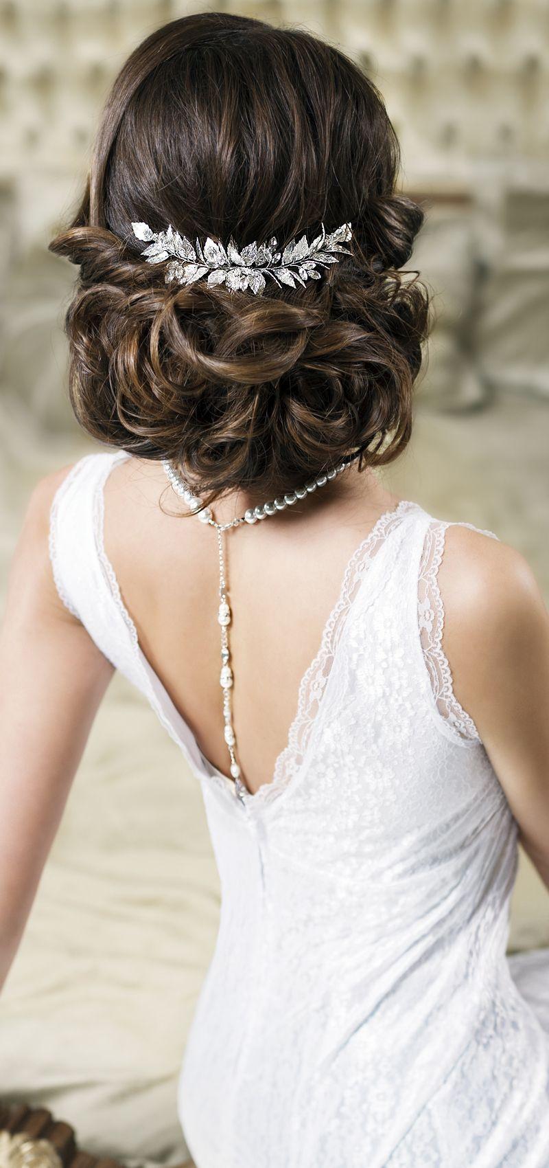 Bridal hair comb peinados de novia pinterest cabello - Peinados recogidos novias ...