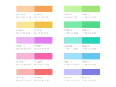 Soft Color Palette For Charts
