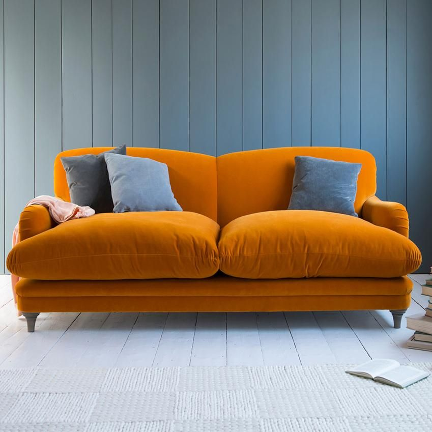 Elle Decoration Uk On Twitter Living Room Orange Living Room Sofa Orange Sofa