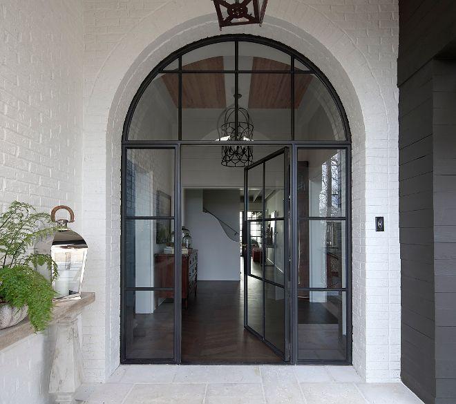Arched Front Door Metal And Glass Arched Front Door Black Metal