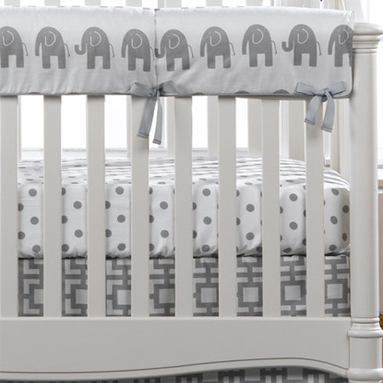 Gray Elephants Crib Rail Cover | Nursery ideas | Pinterest