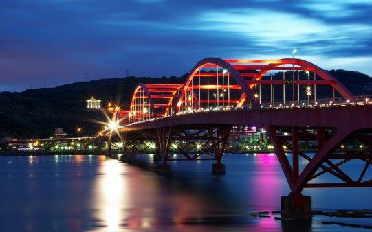 Guandu Bridge Taiwan Travel And World Hd Wallpaper Free