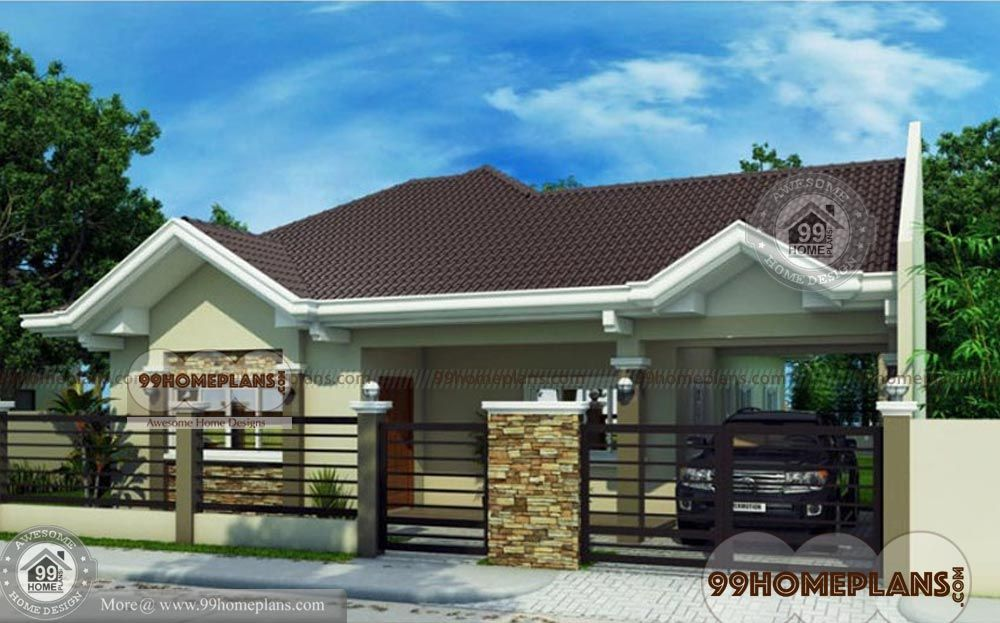 Traditional Bungalow House Plans One Story 1442 sqft