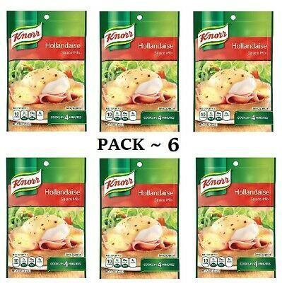 Advertisement - Knorr Hollandaise Sauce Mix Packets 0.9 oz ( PACK 6 ) EXP 10/2020 #hollandaisesauce Advertisement - Knorr Hollandaise Sauce Mix Packets 0.9 oz ( PACK 6 ) EXP 10/2020 #hollandaisesauce