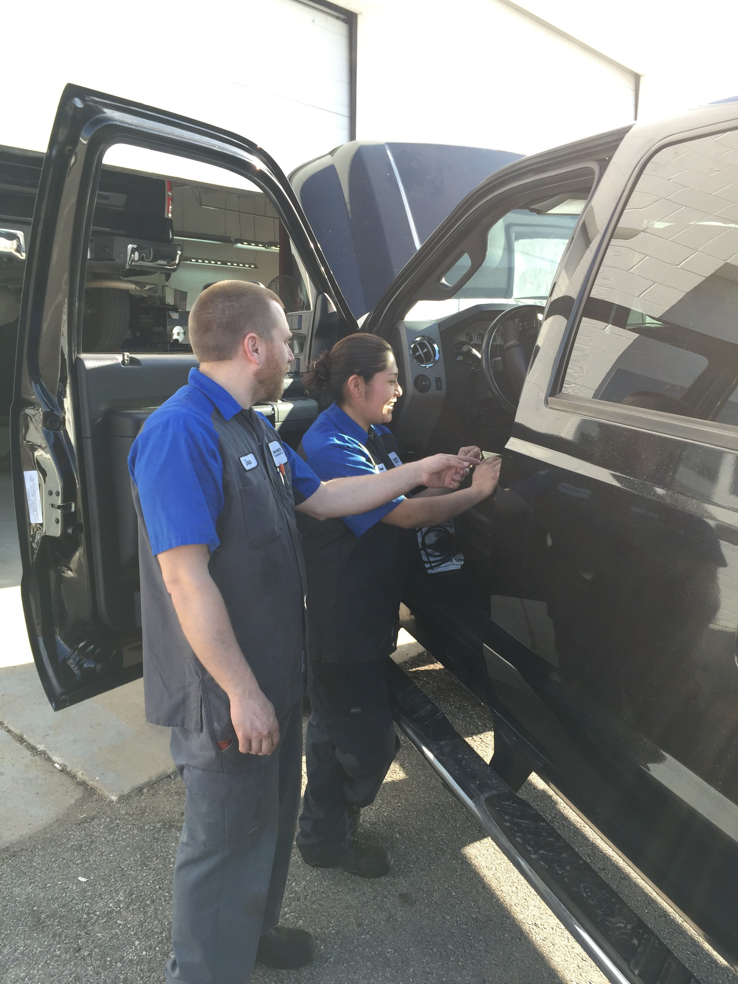 Ford Senior Master Technician Dan Hatch And Apprentice Dawnsie