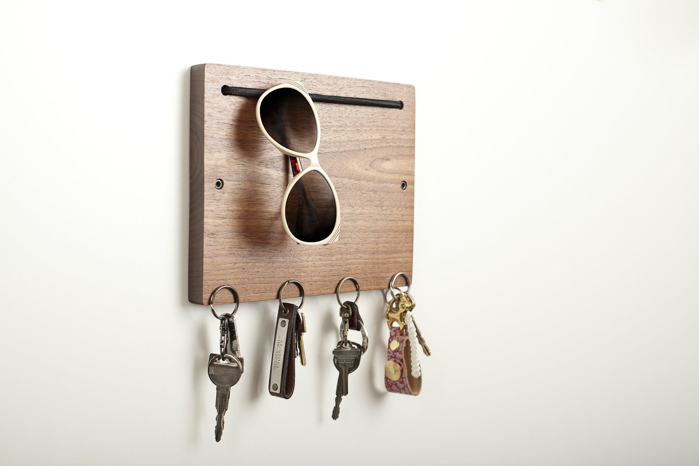 Blokkey Eyewear And Key Holder In Walnut By Brad Reed Nelson Wood Wall Organizer Artful Home Key Holder Diy Wooden Key Holder Wall Key Holder