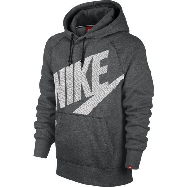 Nike AW77 Fleece Pullover Men's Hoodie ($60) ❤ liked on Polyvore featuring mens, men's clothing, men's hoodies, men and hoodies