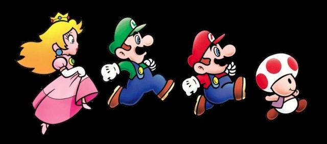 Peach Luigi Mario Toad Super Mario Bros 2 Desenhos Do Mario