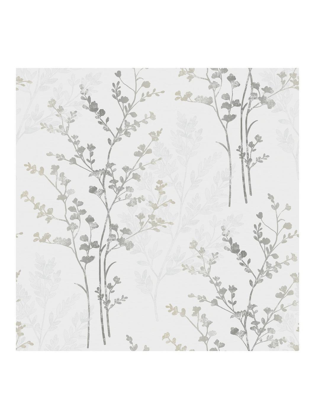 Home diy wallpaper illustration arthouse imagine fern plum motif vinyl - Fern Motif Silver Wallpaper Search Results For Arthouse Imagine