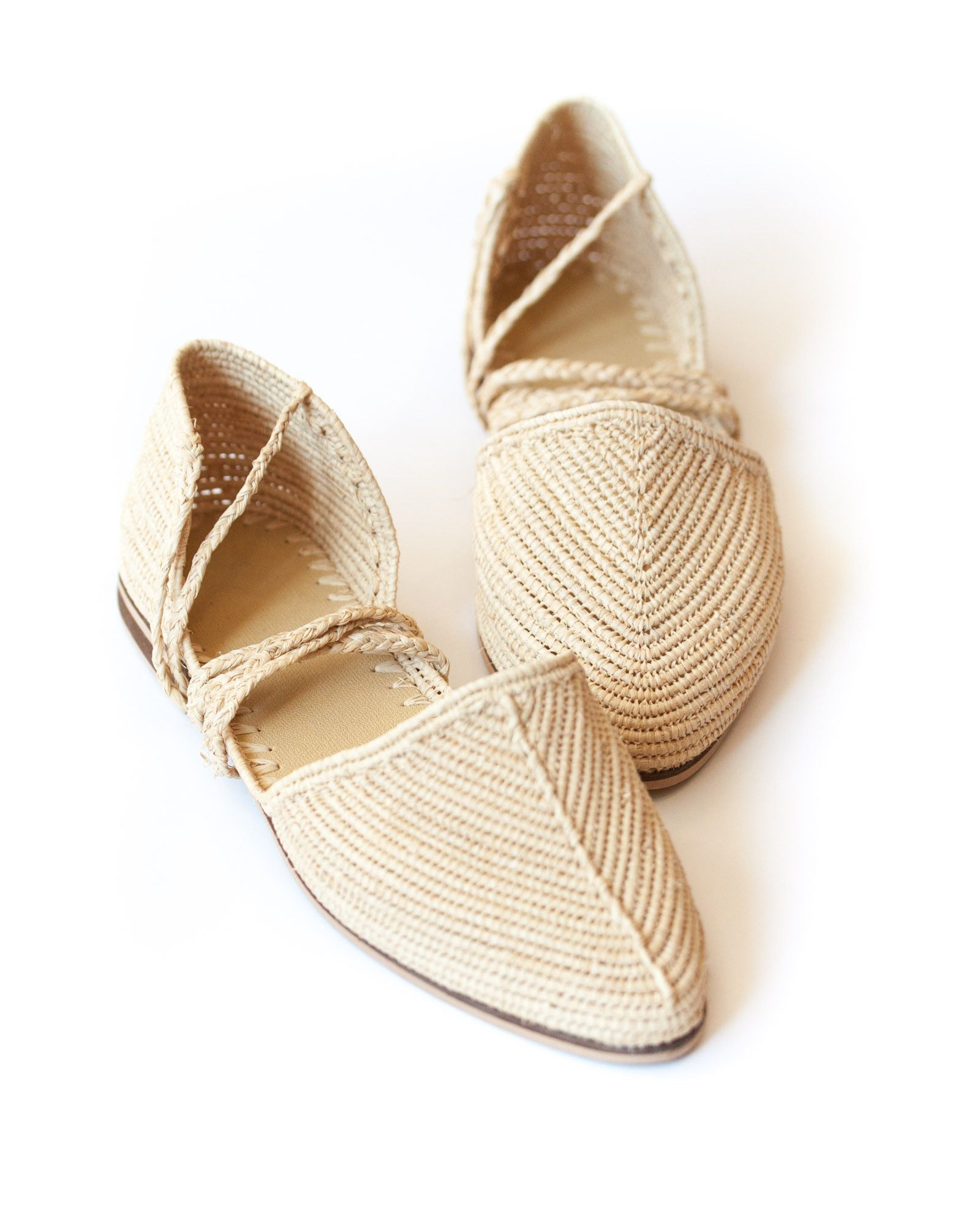 Proud Mary - Raffia Flat. Buy at ShopFable.co
