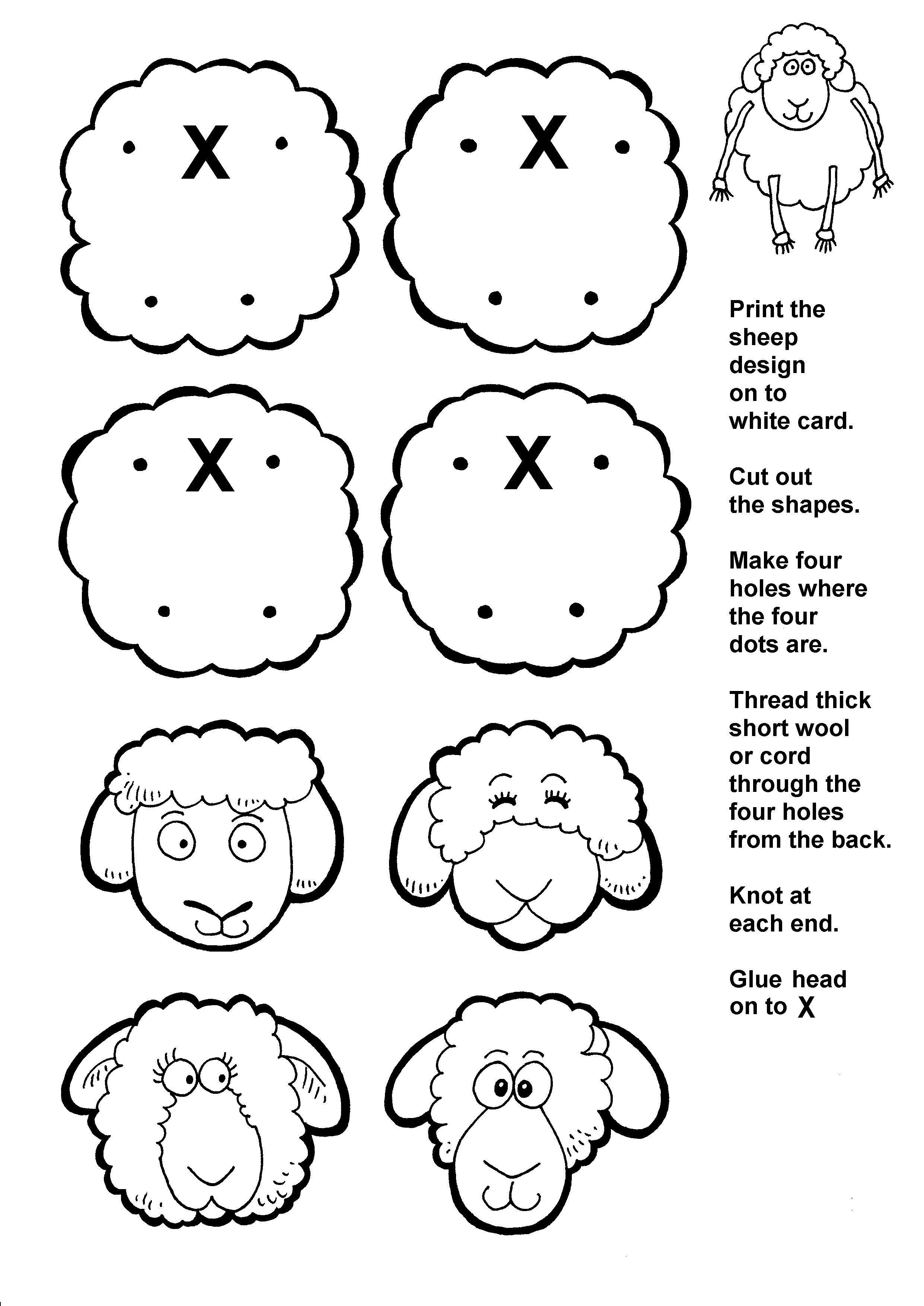 Flocks Of Sheep Bible Crafts