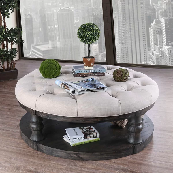Amstel Floor Shelf Coffee Table With Storage With Images Round