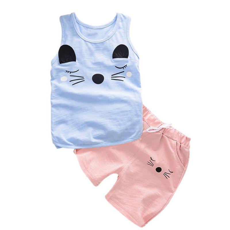 e1e15ecb6 Click to Buy    Summer Baby Boys Girls Clothing Set Children Vest + ...