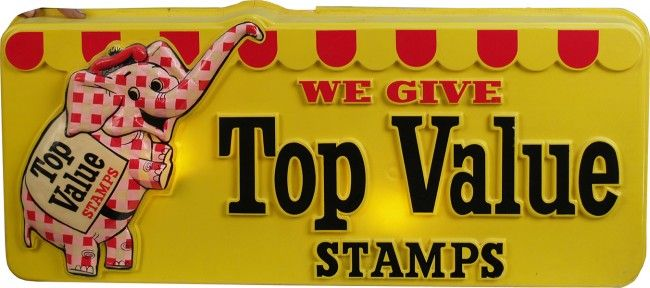 trading stamp sign