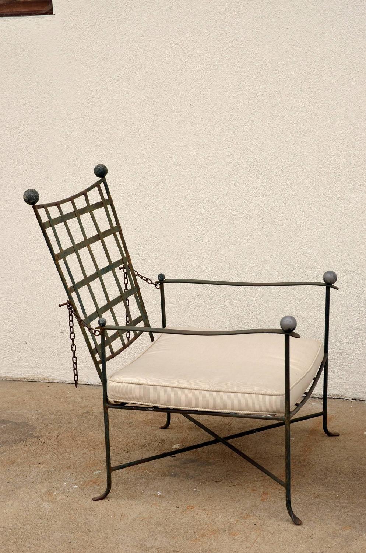 salterini wrought iron furniture. Reclining Armchair By Mario Papperzini For John Salterini 5. Furniture UpholsteryOutdoor FurnitureSalteriniIron SteelLounge ChairsWrought Wrought Iron
