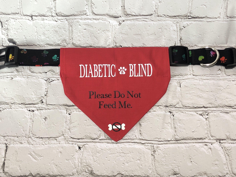 Excited To Share This Item From My Etsy Shop Diabetic And Blind Over The Collar Dog Bandada Pets Medicaldogbandana Di Diabetic Dog Dog Bandana Blind Dog