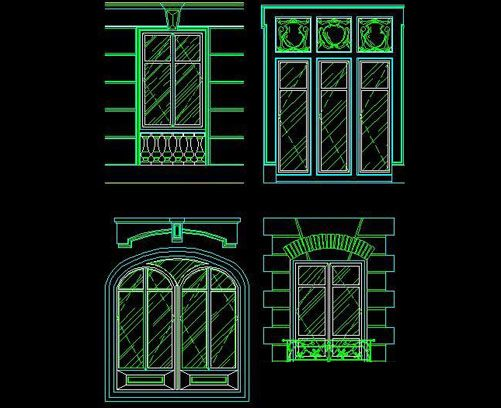 Western window cad drawings free autocad drawing cad for Window elevation designs