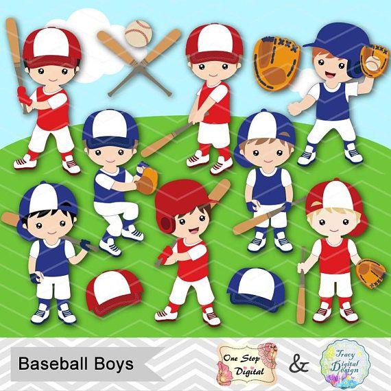 Digital Boy Baseball Clipart Boy Baseball Digital Clip Art Etsy Digital Clip Art Clipart Boy Clip Art