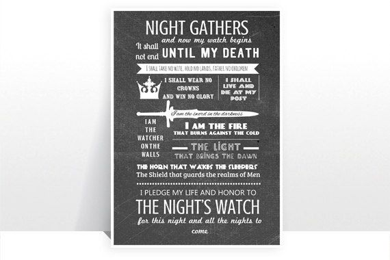"""The Night's Watch Oath 