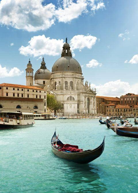 Vista del Gran Canal, Venecia Italia.
