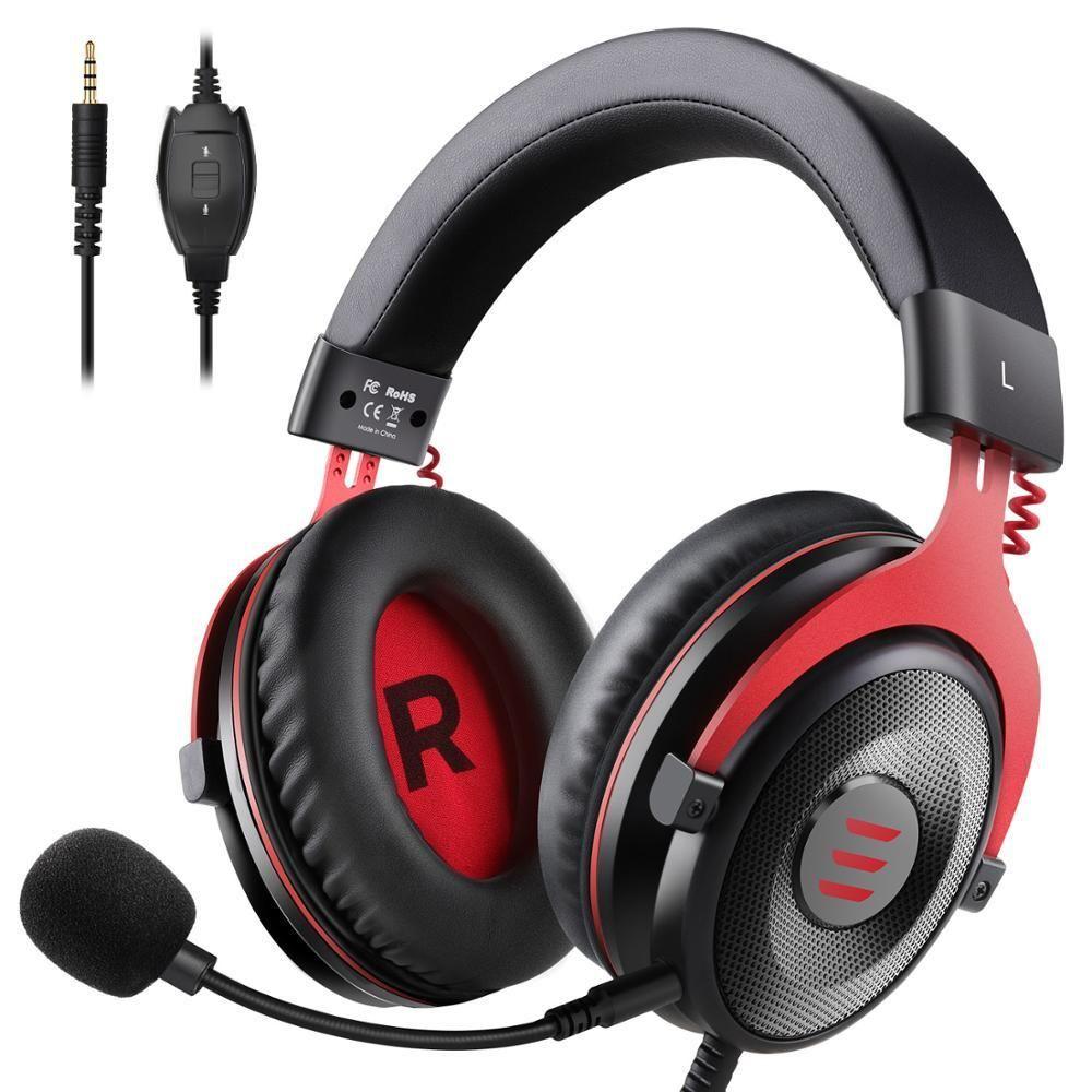 Eksa gaming headphones wired gamer headset 35mm over ear