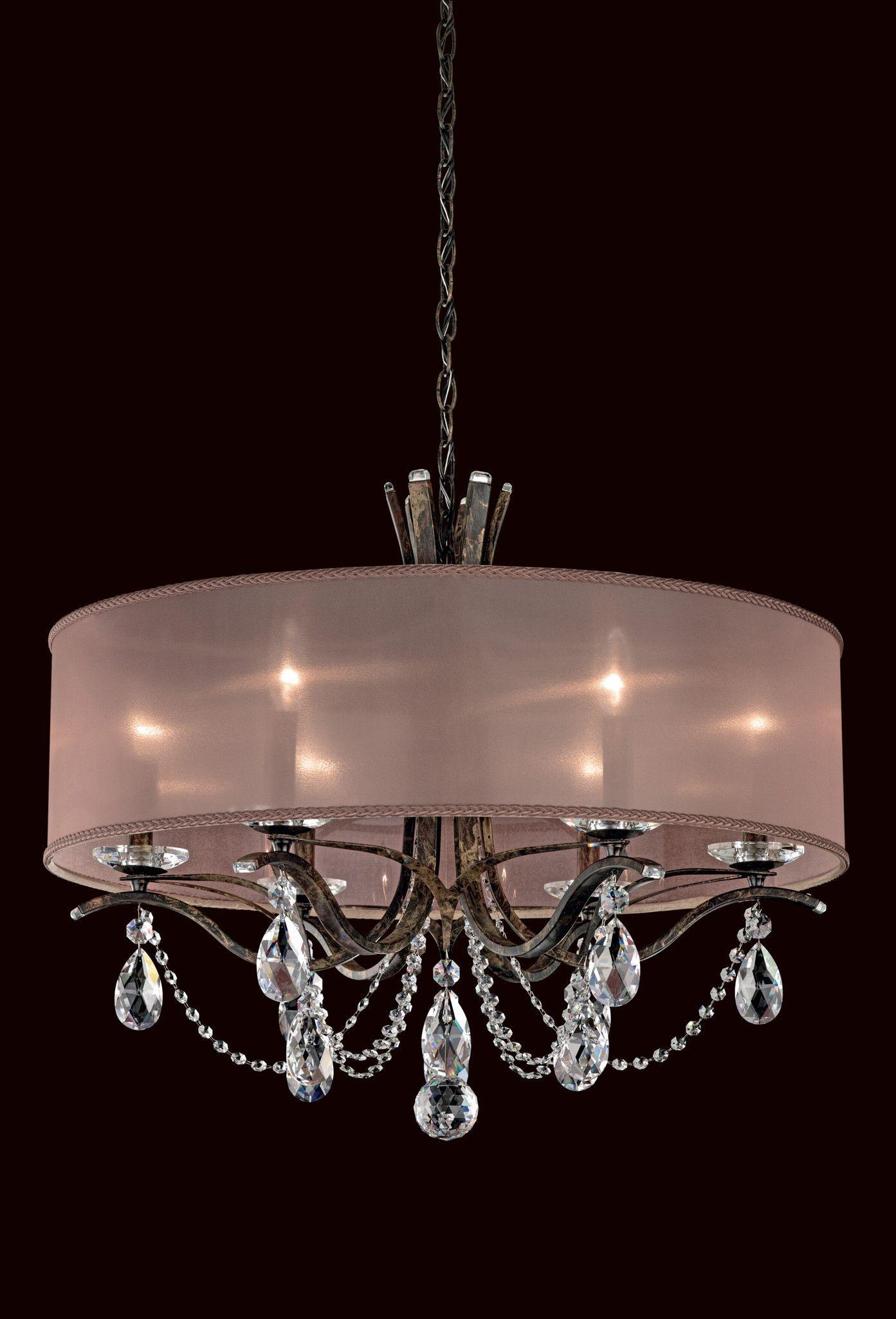 The Schonbek Vesca is a crystal chandelier