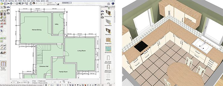 Build It 3d Home Design Software Construction Mode And Kitchen