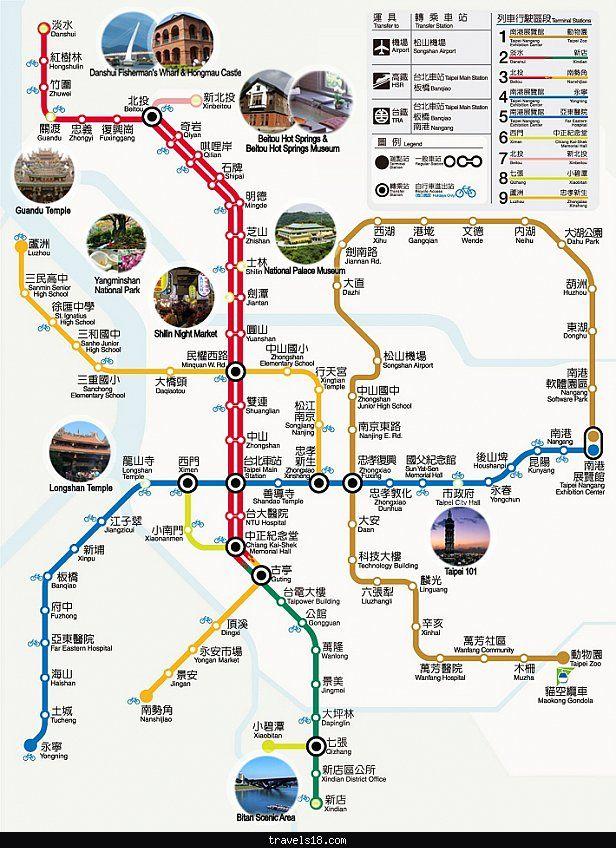 taipei map tourist attractions httptravels18comtaipei map tourist attractionshtml