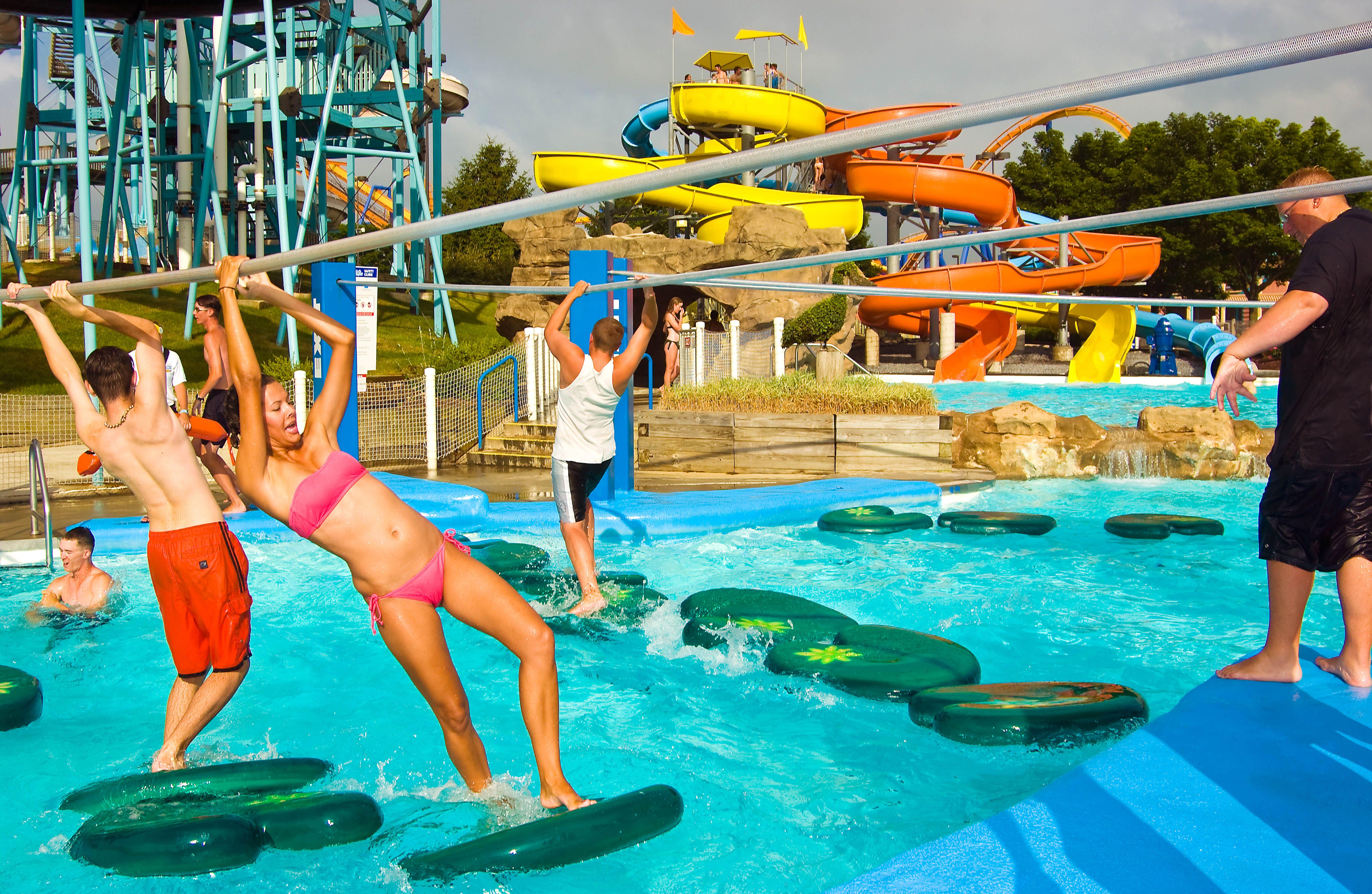 Losing bikini at theme park