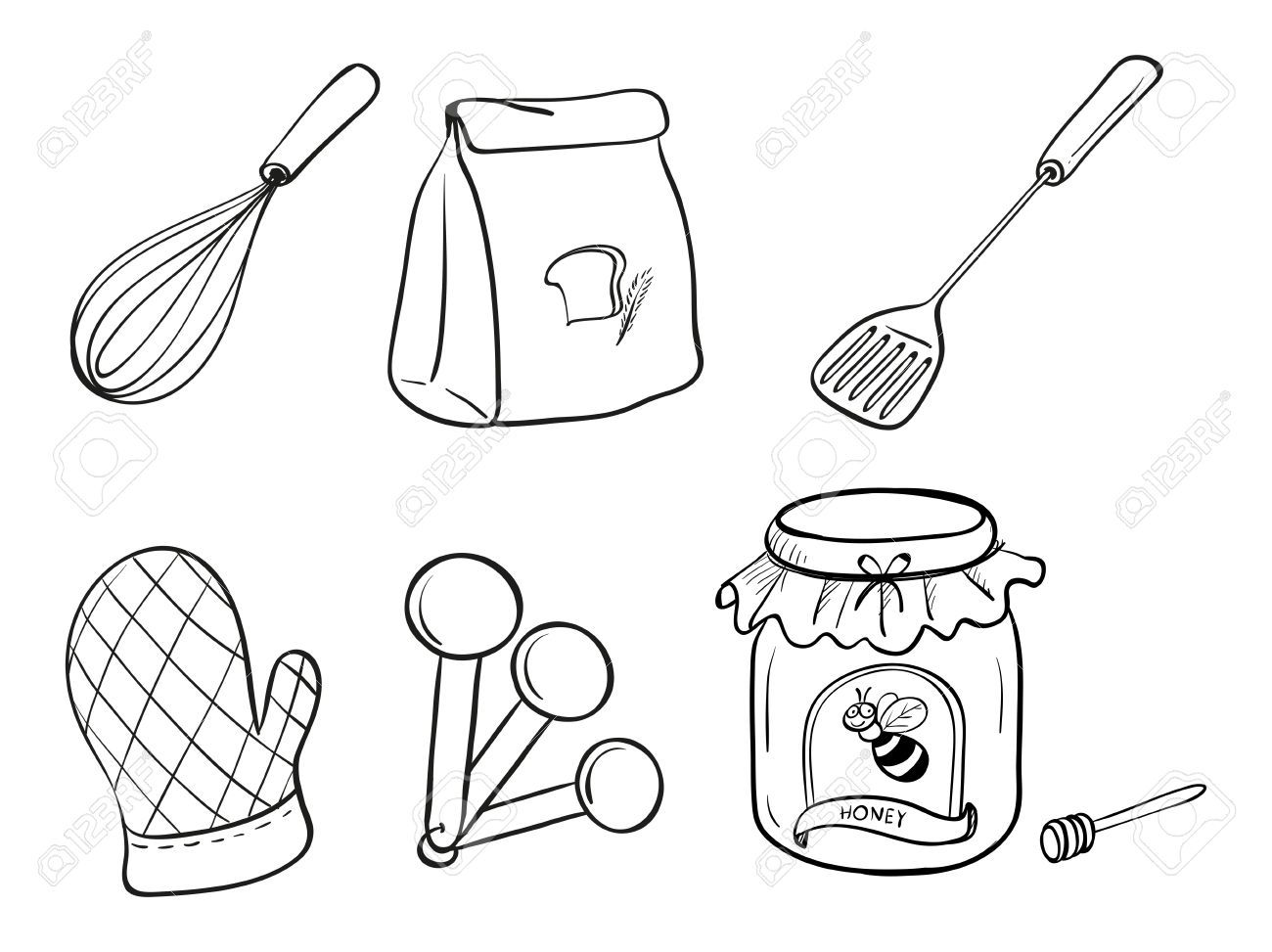 Kitchen Utensils Drawing