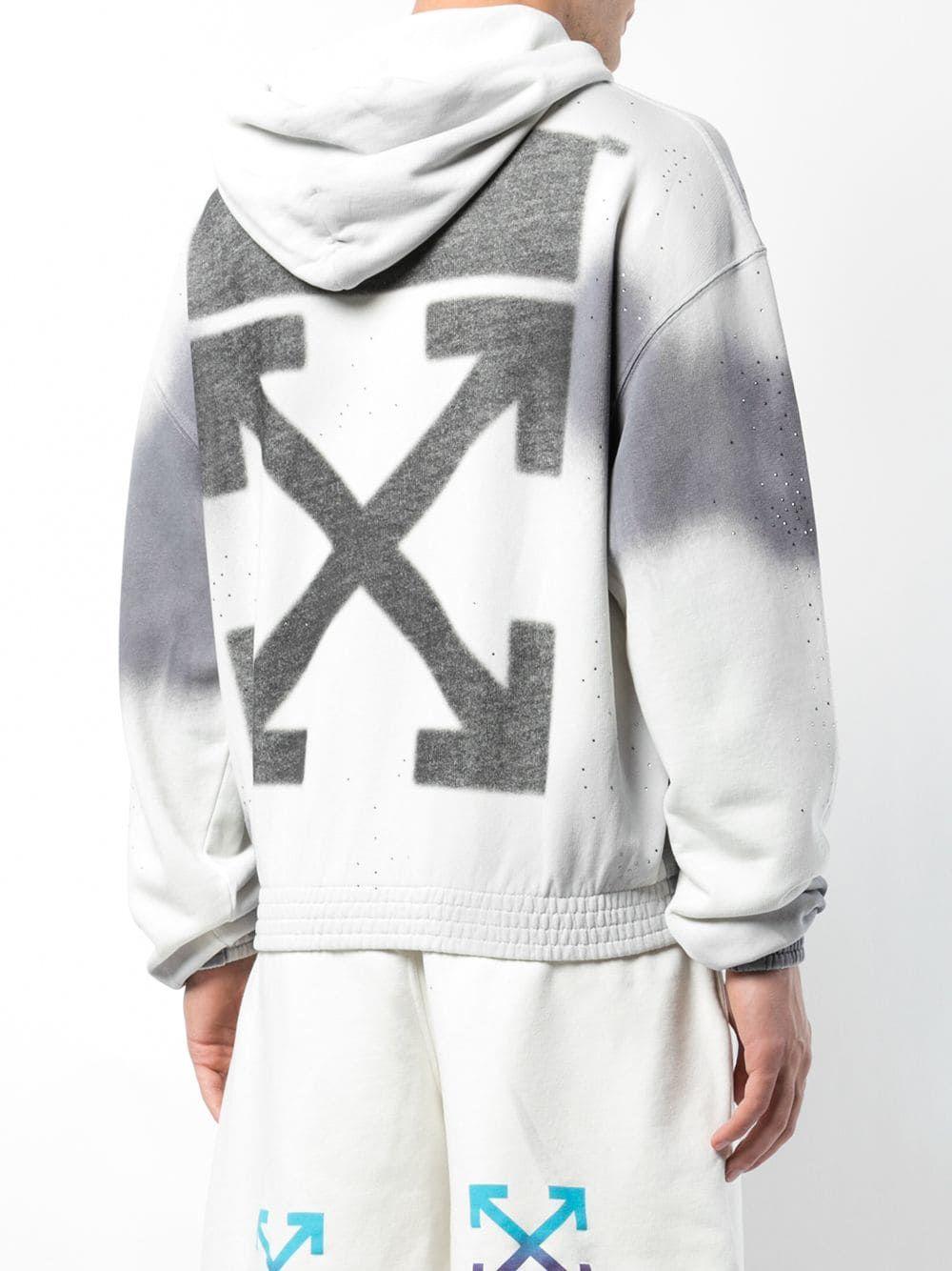 40208a50 Off-White толстовка с капюшоном и принтом логотипа - Купить в Интернет  Магазине в Москве