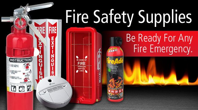 For fire safety and security at home and the workplace, Fire Supply Depot can be your source for everything from fire extinguishers, evacuation and directional signs to EMT and first aid kits.