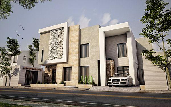 Contemporary arabian villa on behance pinterest for Islamic home designs
