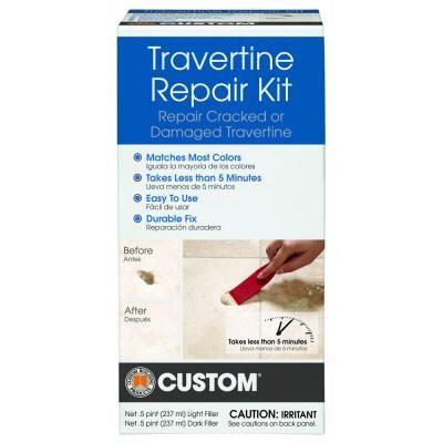 Floor Tile Repair how to repair grout thats cracking Custom Building Products Travertine Repair Kit Travrk At The Home Depot Building Productstile Floortravertinehome