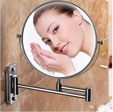 (Buy here: http://appdeal.ru/176t ) Modern bathroom mirror make up folding bathroom mirror wall mounted mirror folding cosmetic mirror double faced 3x for just US $39.50