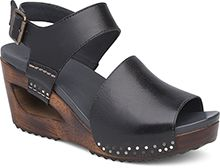 c625c46df97  185 Dansko - Women s Shona Wedges in Black Tumbled Leather ...