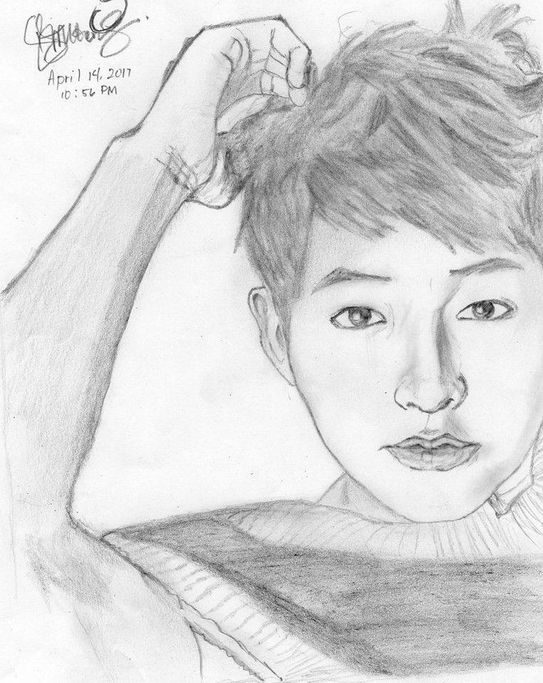 My Songjoongki Drawing #sketch #bigboss | Sketches, My ...