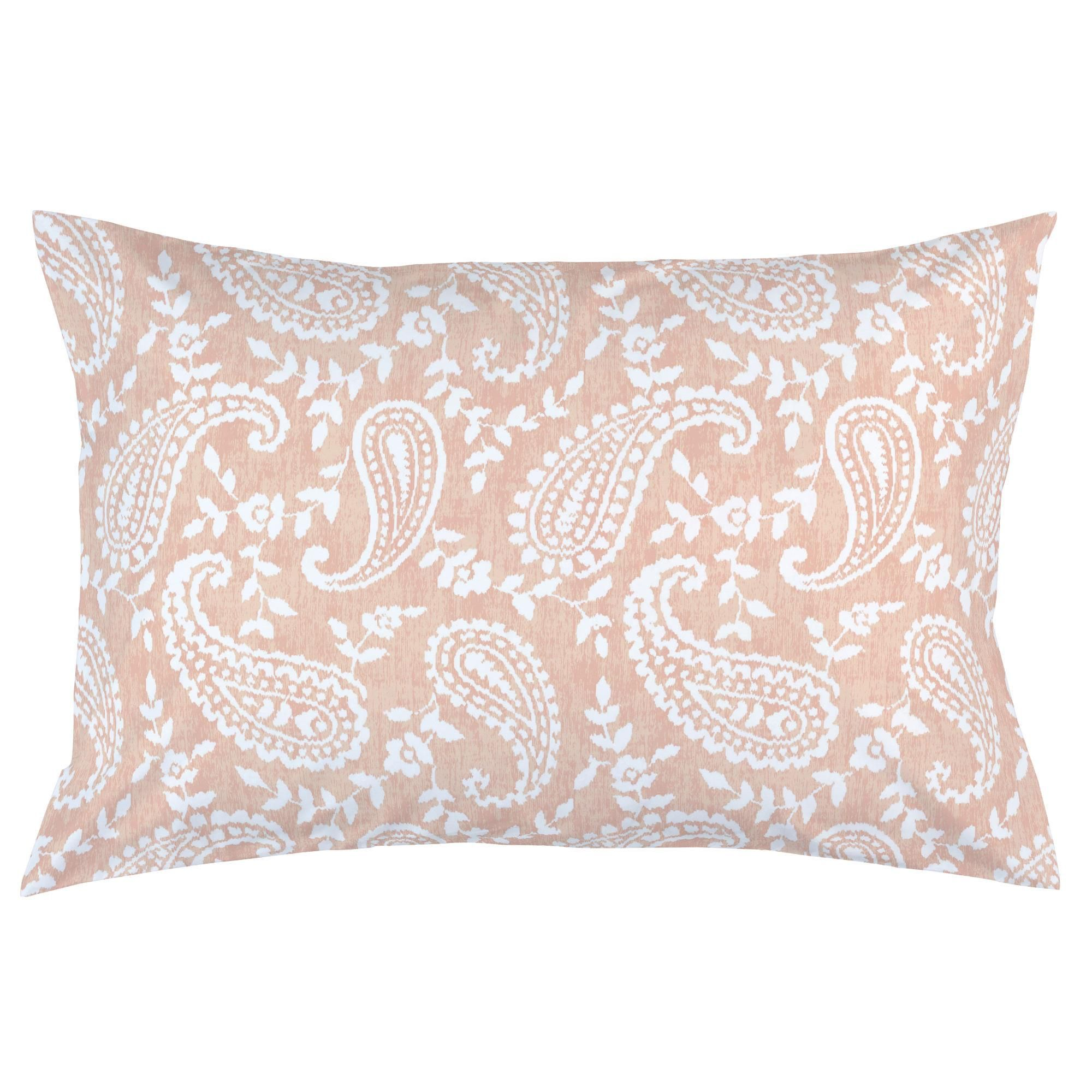 peach paisley pillow case by carousel